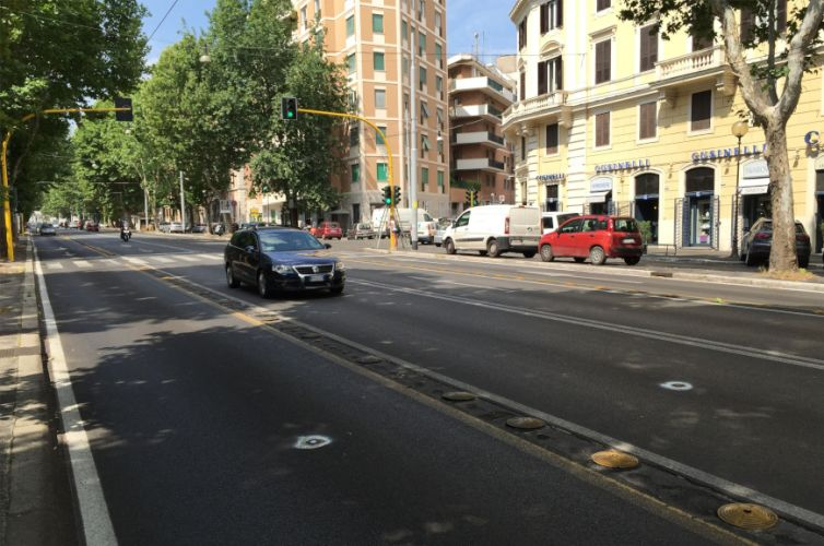 Traffic light control in Rome Nomentana